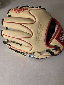 rawlings pro preferred baseball glove Beige And Black Red Stripping