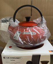 Le Creuset Zen Stove 1.5L Top Kettle with Fixed Whistle-Cerise (New)
