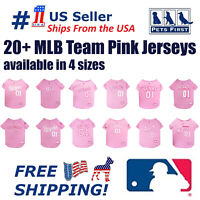 Pets First MLB Baseball Pink Jersey 20+ Teams in 4 sizes - Licensed MLB Jersey