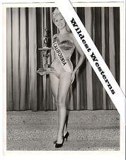 MISS CALIFORNIA Beauty Pageant vintage original swimsuit trophy photo camel toe