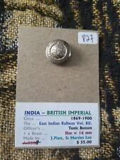 British India - East Indian Railway - Tunic Button - Circa 1869-1900 - P27