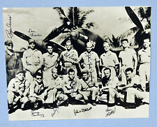Photo of Members of the Yamamoto Mission taked 4/19/43 and signed by 9 members