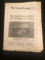 June 16, 1977 NY Newsday Mets Trade Tom Seaver Reds Complete Newspaper Kingman