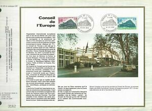 FEUILLET CEF 1er JOUR FRANCE CONSEIL DE L'EUROPE 1978 (2 TIMBRES)