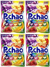 4 BAGS UHA Mikakuto Japan Puccho Puchao Chewy Candy 4 Flavor Fruit Mix 3.52 oz