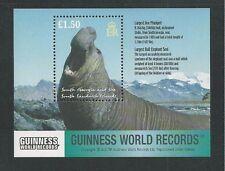 SOUTH GEORGIA # 279 MNH GUINNESS WORLD RECORDS Souvenir Sheet