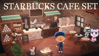 New Horizons -☕RARE 40 Pcs Indoor Starbucks Cafe Coffee Shop Furniture Item Set☕