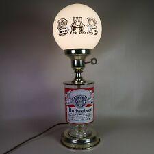 Vintage Budweiser Bar Light Glass Globe Advertising Lamp Antique Working