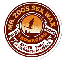 "MR ZOGS SEX WAX SNOWBOARD sticker decal ... Red 2.5"" Circular"