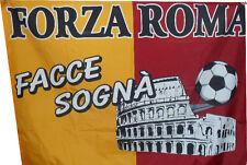 bandiera roma totti facce sogna' 100x150 cm magica roma