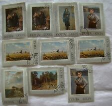 Russia Stamp Set 1971 Scott 3896 - 3901 A1865 Paintings