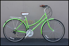 Lime Green Micargi Kuba 7 21-Spd Townie City Vintage Road Bike Bicycle 527108