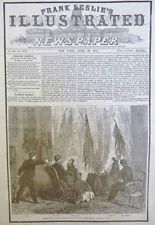 ABRAHAM LINCOLN PRESIDENT ASSASINATED 4-1865 April 29 ILLUSTRATED OLD NEWSPAPER