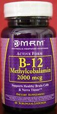 ACTIVE Methyl Cobalamin Vitamin B12 Sublingual Lozenges 2000 mcg AUTISM & MEMORY