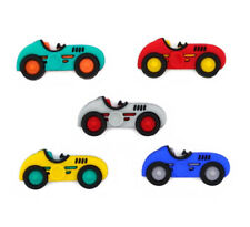 Childrens Buttons - Speed Racers Racing Car - Novelty Buttons Cake Decorations