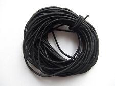 10mt  filo cordino elastico 2mm   per bracciale colore nero bigiotteria