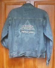 Men's Harley Davidson Cotton Blue Jean Denim Custom Speed Biker Jacket Coat M