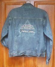 Men's Harley Davidson Cotton Blue Jean Denim Custom Speed Biker Jacket Coat M