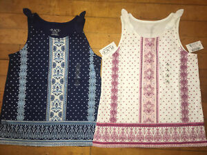 NWT Girls Childrens Place Tank Tops Size M 7/8