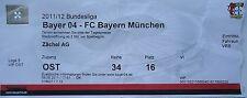 Vip ticket 2011/12 Bayer 04 Leverkusen-Bayern Munich