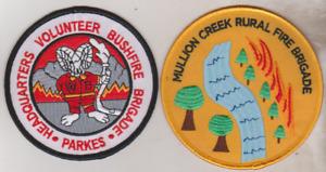 Mullion Creek & Parkes NSW Rural Fire patches