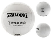 Spalding TF3000 Full Grain  Leather Volleyball White