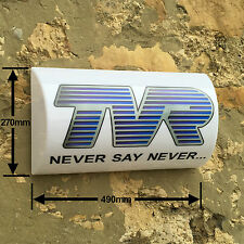 TVR NEVER SAY NEVER  LIGHT BOX LED ILLUMINATED Garage Man Cave Games room sign