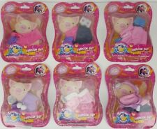 Lot of 6 TEACUP PIGGIES Fashion Set Clothing NEW