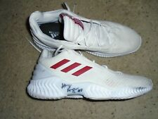 Louisville Cardinals Basketball Akoy Agau Game Used Signed Adidas Shoes