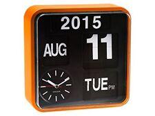 Karlsson mini Flip - reloj de pared marco naranja fondo negro