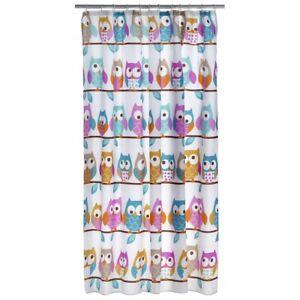 Duschvorhang Dusch Vorhang Shower Curtain Badvorhang Eule Polyester TOP!