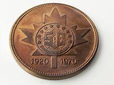 Vintage 1970 Kingsmen 50 Years Serving Canadian Communities Copper Token H280