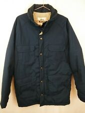 Vtg Woolrich Mens Field Coat Jacket Parka Large Navy Thermal Insulated 33334