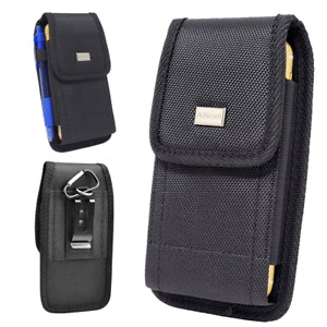 For Motorola moto g power (2021) G Pure, Rugged Clip Holster Nylon Case Pouch
