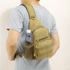 Brown Tactical Military Sling Chest Pack Messenger Shoulder Camo Molle Mens Bag