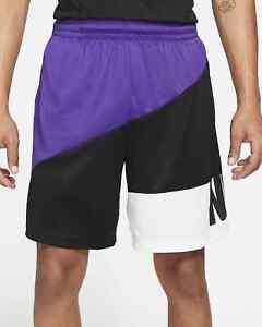 Nike Men's Dri-Fit Basketball Shorts (Court Purple/Black) Size Large