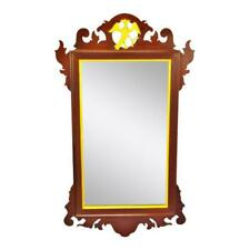 Vintage Chippendale Style Wall Mirror with Gilt Bird Design