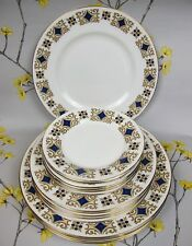 Vintage Royal Imperial bone china Dinner & Salad & Cake PLATE Set for 6. England
