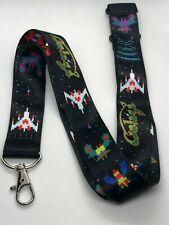 Galaga Print Lanyard Key Chain Id Badge Holder