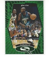1998-99 UPPER DECK UD CHOICE BASKETBALL STARQUEST GREEN GLEN RICE #SQ3 - HORNETS
