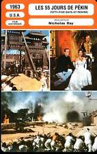 FICHE CINEMA : LES 55 JOURS DE PEKIN - Heston,Gardner  1963 - 55 Days at Peking