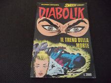 "DIABOLIK SERIE SWIISSS N.9 - IL TRENO DELLA MORTE - BUONO ""N"""