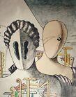 Giorgio de Chirico, Masks, Hand Signed Lithograph