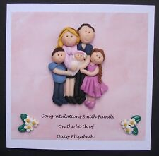 Personalised family portrait greeting card by Hot Dough Creations