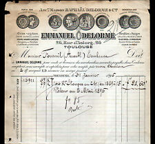 """TOULOUSE (31) MEUBLES QUINCAILLERIE TOILES """"Emmanuel DELORME"""" en 1895"""