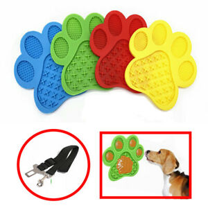 Dog Lick Mat Slow Feeder Pet Food Lickimat Soother Silicone With Suction Cups UK