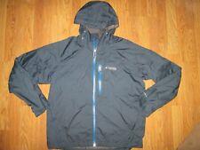 Mens COLUMBIA OMNI-SHIELD athletic hooded waterproof windbreaker jacket sz XL