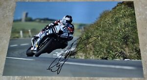 """Michael Dunlop Signed 12"""" x 8"""" Colour Photo Isle Of Man TT Comes With COA #2"""