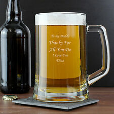 Personalised Nostalgia Pint Beer Glass Tankard - FREE Engraving NEW any Occasion