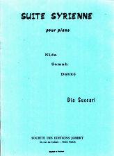 Suite SYRIENNE pour piano DIA SUCCARI 1976